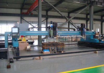 CNC gantry plasma flamme skære maskine til jern metal plade
